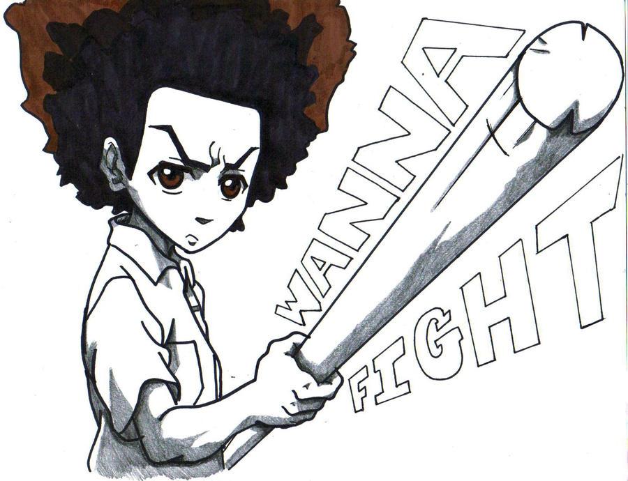 Huey Freeman Wanna Fight By Trunks24 On Deviantart