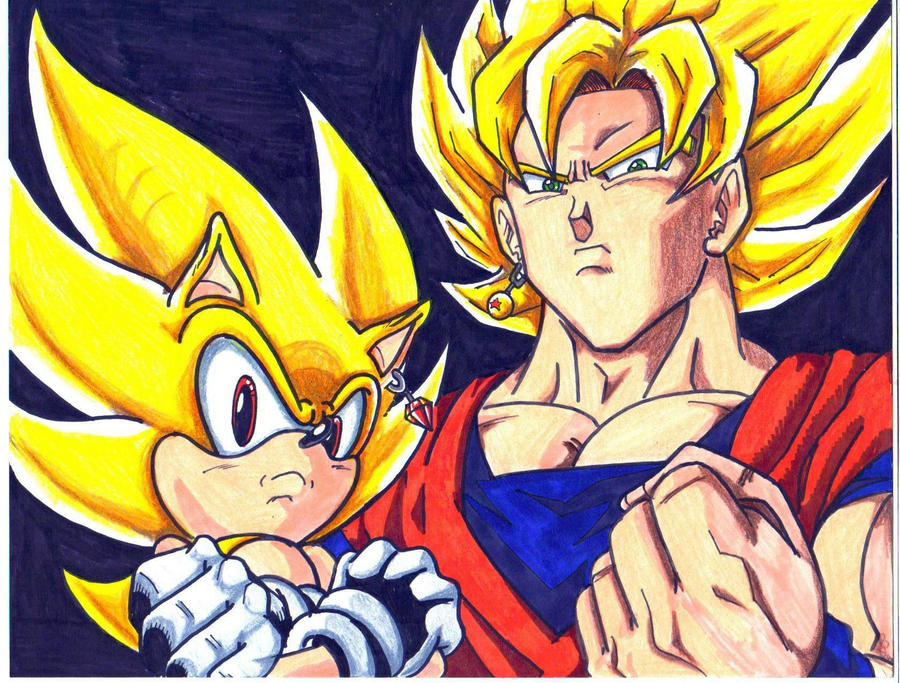Pin Goku And Sonic Fusion Genuardis Portal on Pinterest