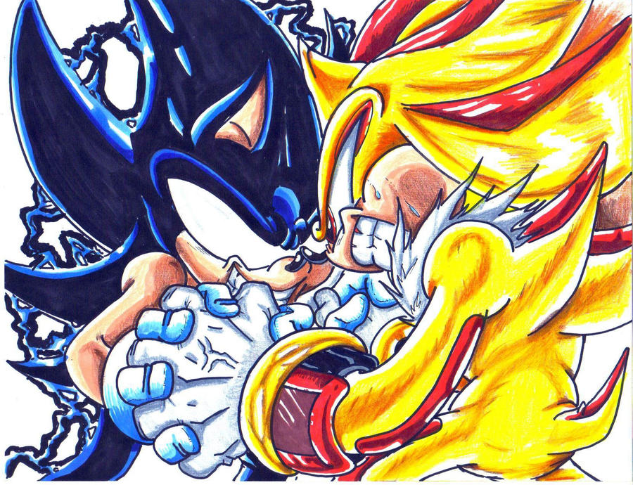 Dark Sonic Vs Super Shadow CLD By Trunks24