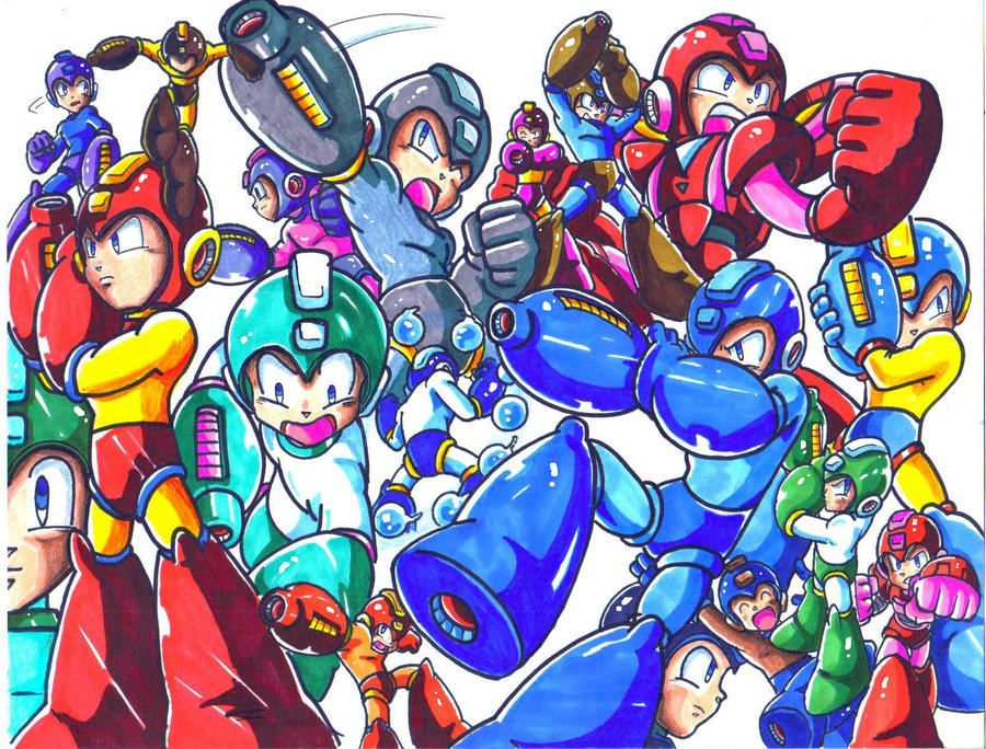 megaman mania colored by trunks24