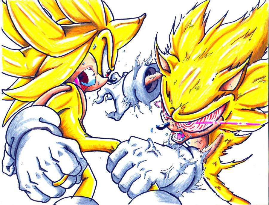 super sonic vs. fleetway sonic by trunks24 on DeviantArt