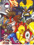crash bandicoot and gang