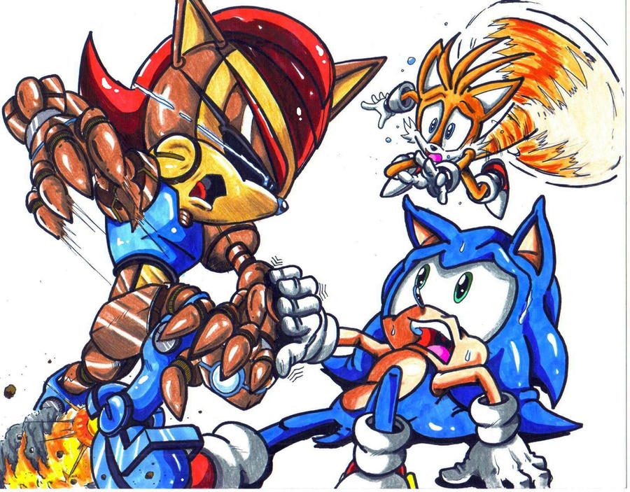mecha sally sonic tails by trunks24 on DeviantArt