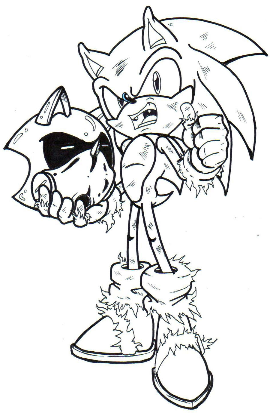 sonic satam coloring pages - photo#14
