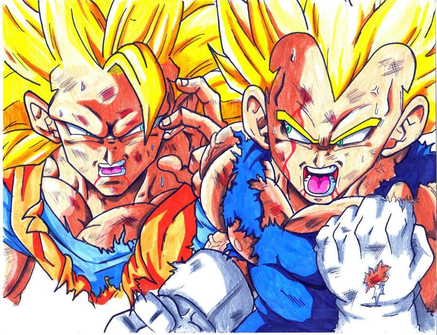 Ssj3 Goku And Ssj Vegeta Damage CL By Trunks24