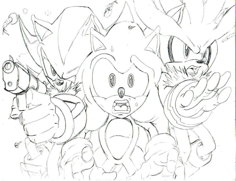 sonic shadow and silverpencil by trunks24 on DeviantArt