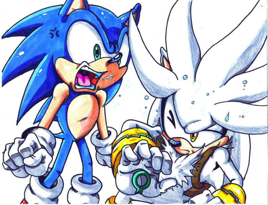 Sonic Yelling At Silver Cl By Trunks24 On Deviantart