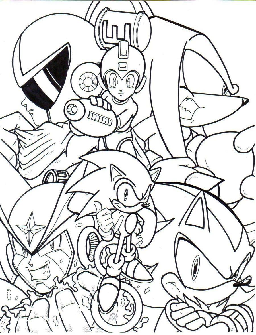 archie megaman sonic crossover 2013 la by trunks24 on deviantart