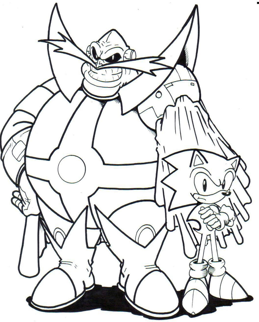 Archie dr ivo robotnik and sonic la by trunks24 on deviantart for Dr eggman coloring pages