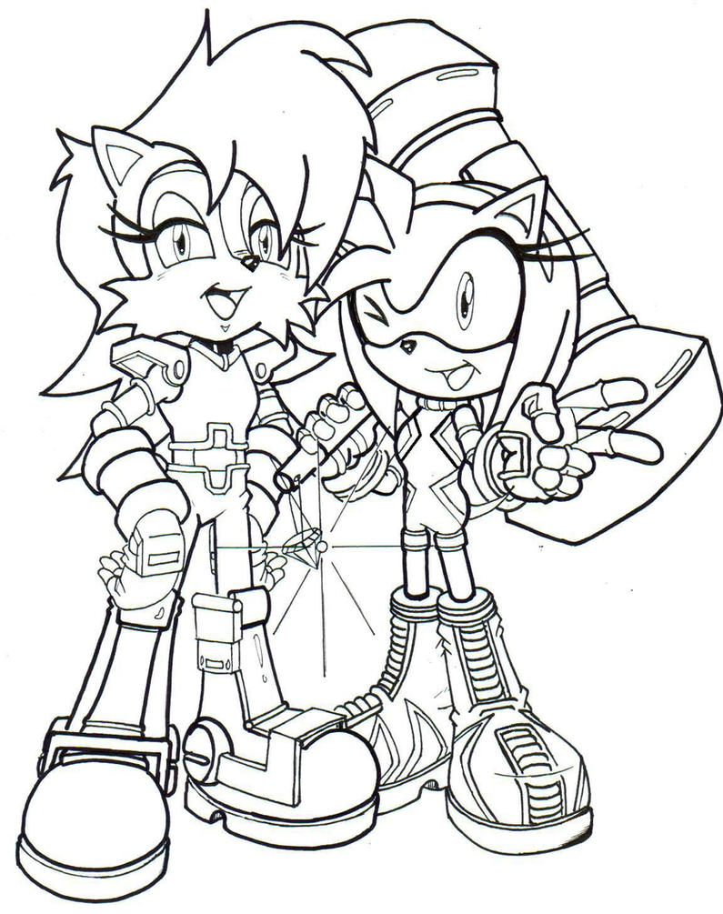 sally coloring pages - sally and amy new outfits la by trunks24 on deviantart