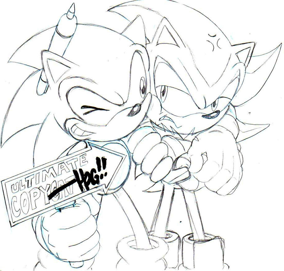 classic sonic and shadow sketch by trunks24 on DeviantArt