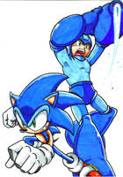Sonic And Megaman Cl by trunks24