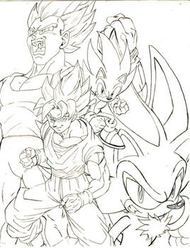 dbz x sonic THE SUPERS pl