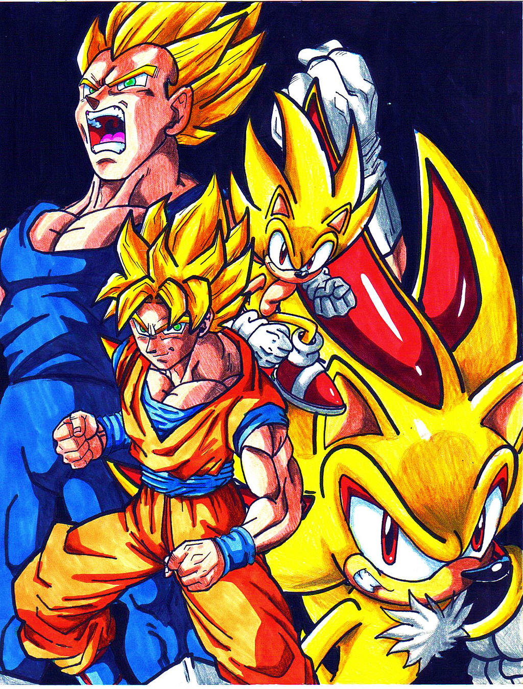 GOKU And SONIC By Trunks24 On DeviantArt
