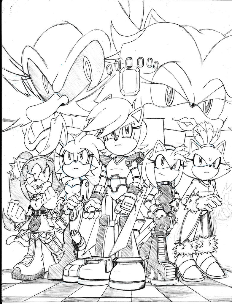 Sonic Universe Ladies Night fan cover 1 by trunks24