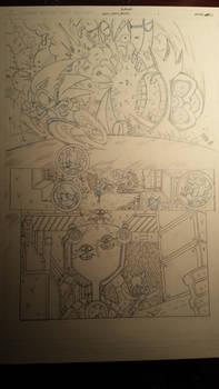 sonic comic origins ant pencils pg1