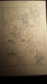sonic comic origins ant pencils pg2