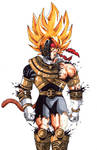 Bardock aka gokus father as the gold Zeo ranger