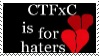 CTFxC is for haters Stamp by thetypingsquirrel