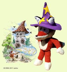 Raxfox Plushie 3 - The Wizard by Raxfox