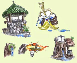 Raxfox World 1 - Getting Water by Raxfox