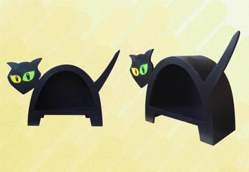 Dancing Cabinet - Black Cat by Raxfox