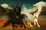 Alicorn and Pegasus