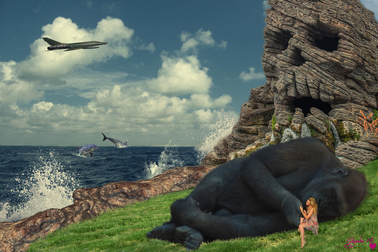 Kong Spotted on Skull Island by Branka-Johnlockian