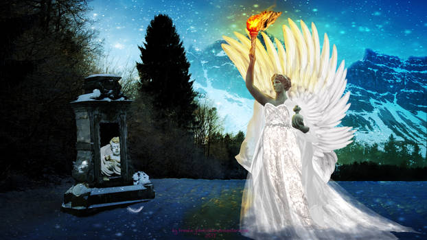 A Snow Angel with a Torch