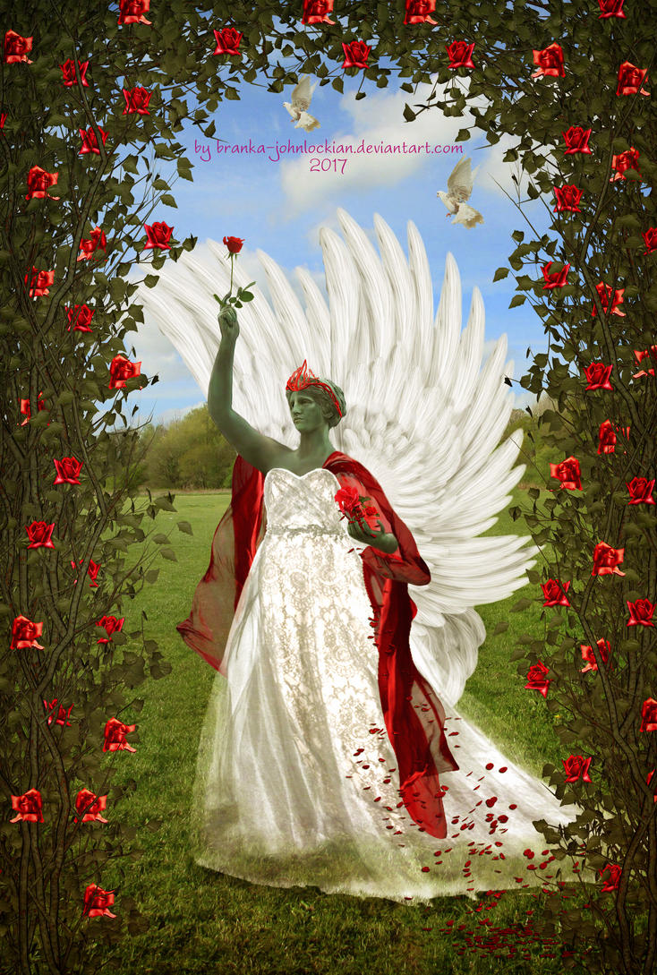 Angel of Roses by Branka-Johnlockian