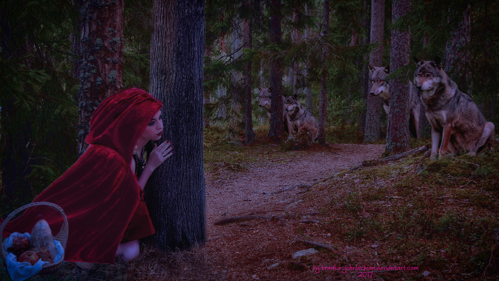Hiding from the Pack by Branka-Johnlockian