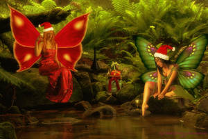 Even Fairies Celebrate Christmas by BrankaArts