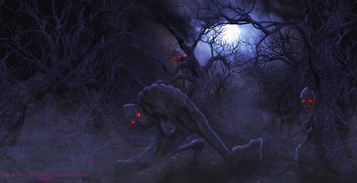 The Scary Forest by Branka-Johnlockian