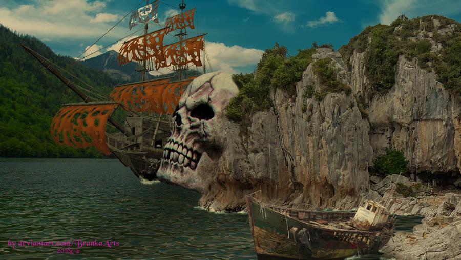 Skull Mountain by BrankaArts