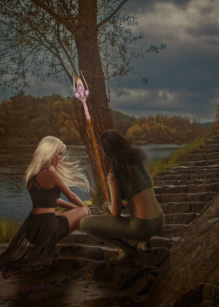 A Mage and Her Lady by Branka-Artz