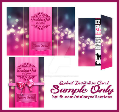 Debut invitation card by vinkaycollections on deviantart debut invitation card by vinkaycollections stopboris Gallery