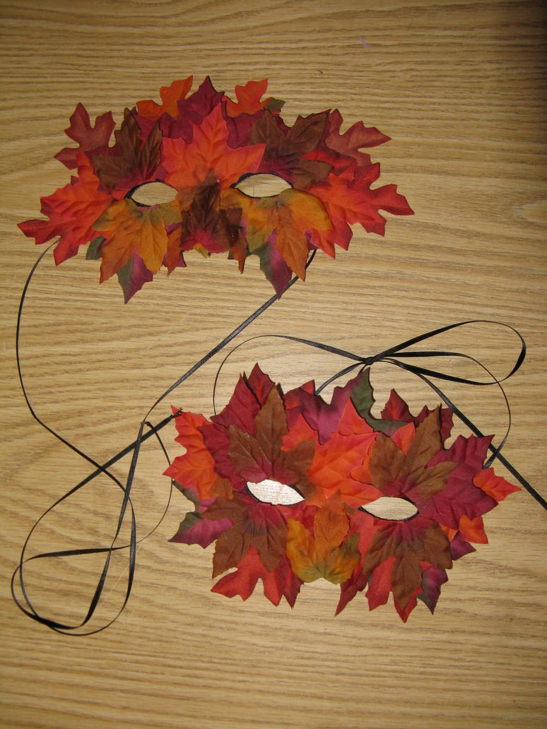 Autumn Leaves Masks by Gwenyver-Costumes