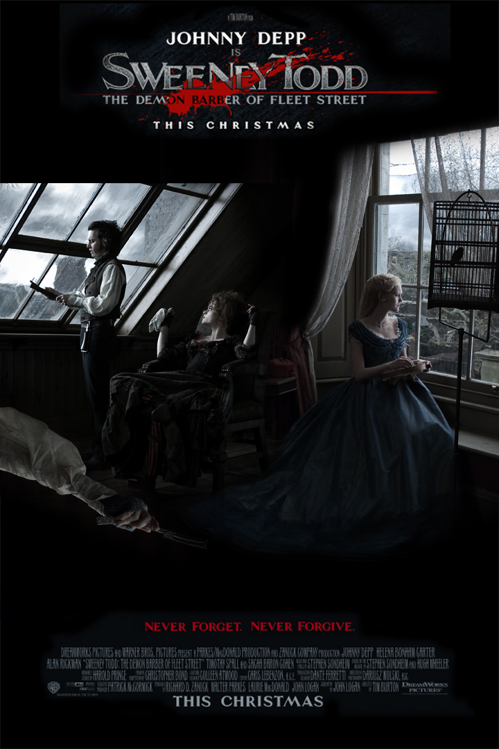 sweeney todd movie poster by aileana on deviantart