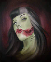 Zombie Self Portrait by tainted-orchid