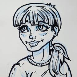 Girl -train drawing by friendbeard