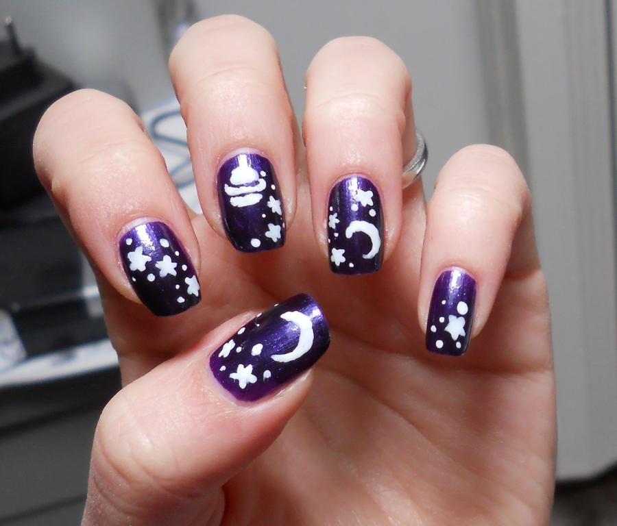 Universe Nails By Ghostprincess91 On Deviantart