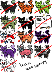 Adoptable Sheet 07: I Can Haz Spoopy! [CLOSED]
