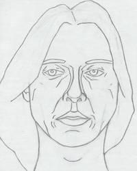 Self Portrait, Original Lines by neddiedrow