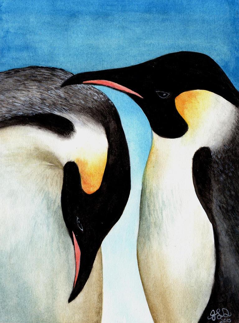 Emperor Penguins by Bewildermunster
