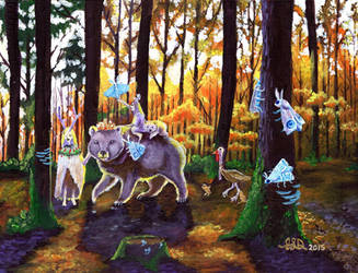 Forest Procession by Bewildermunster