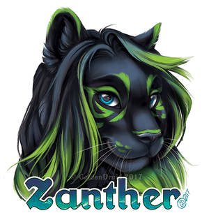 Zanther Painted Badge Commission