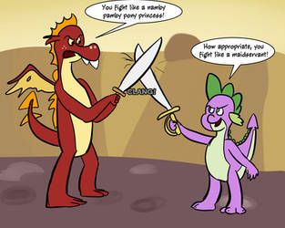 Dragon Sword Fighting by Serious Rainbow Mod by Abstract--Thought