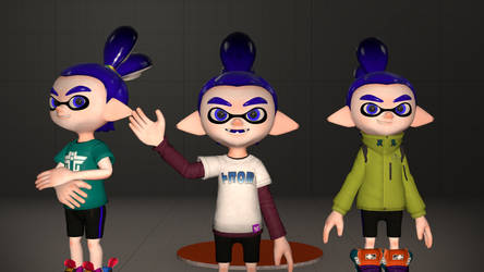 Some Inkling textures I made