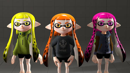 Spotted Inkling Girl Texture Tests