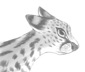 African Serval Bust